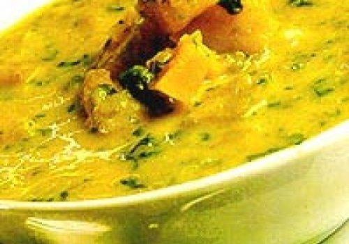 Sopa Creme de Abóbora com Hortelã
