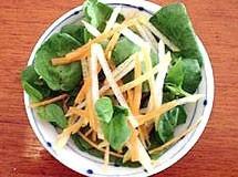 Salada de Agrião, Pêra e Molho Asiático   Luiz Lapetina