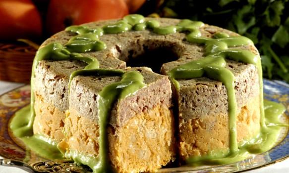 Bolo de Carne-seca com Feijão e Molho de Espinafre | sabor e verso rita