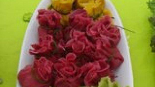 Panquecas em forma de flores com cores variados!