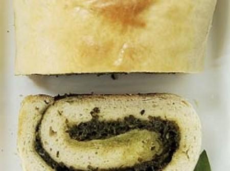 Pão recheado com manjericão | CyberCook