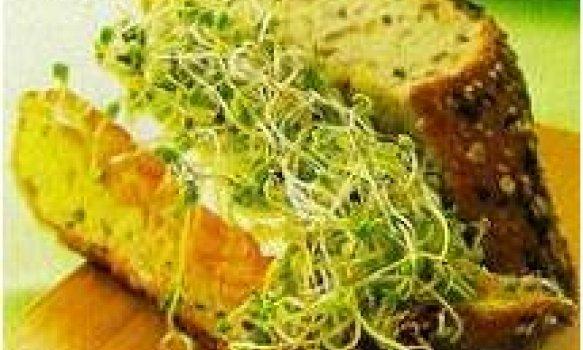 Sanduiche com pasta de cenoura e broto de brócolis