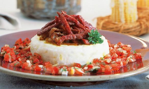 Canjica com Carne Seca   sabor e verso rita