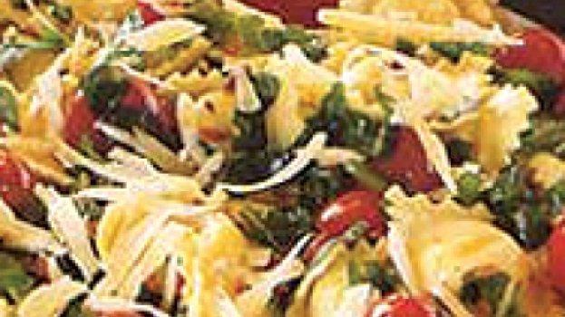 Ravioli com Rúcula e Tomate-cereja