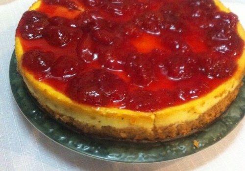 Cheesecake com Cobertura de Morangos