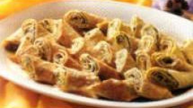 Crepe de queijo e espinafre