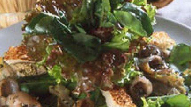 Salada de Alcachofra com Lulas à Provençal
