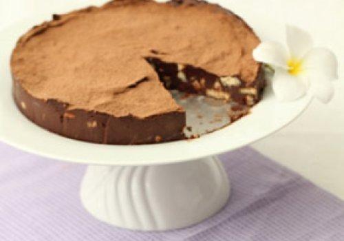 Torta de Ganache com Biscoito de Leite
