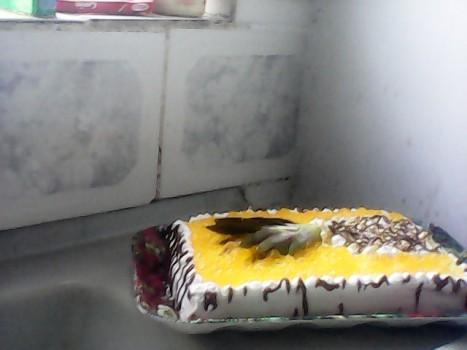 Bolo Gelado de Abacaxi com Chocolate Branco
