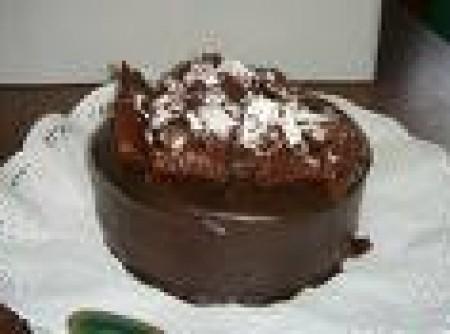 Mousse de Chocolate com Coulis de Café