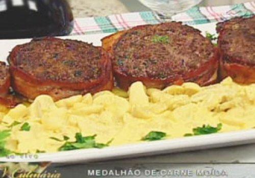 Medalhão de Carne Moída com Molho de Mostarda
