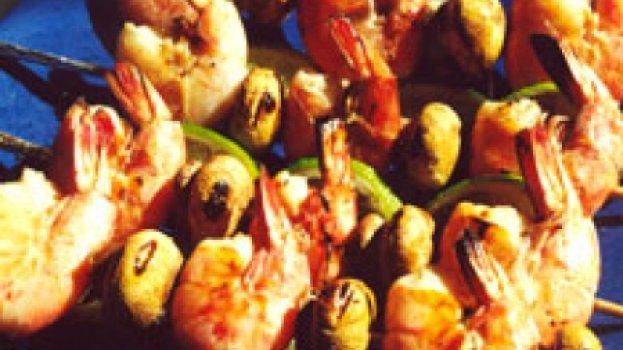 Camarões com Cogumelos Frescos