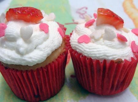 Cupcake de Morango