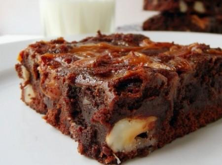 Brownie de Cacau e Doce de Leite
