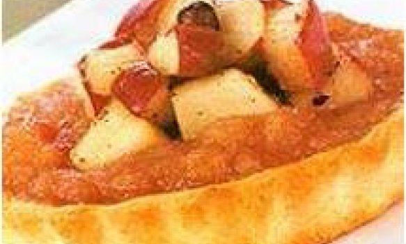 Minitorta de maçã com pimenta-da-jamaica