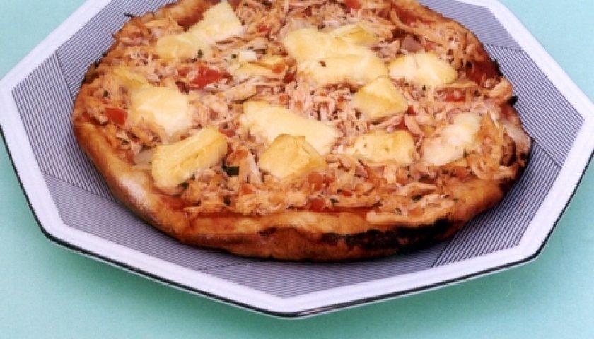 Pizza em Panela de Pressão de Frango