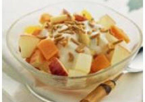 Salada de frutas e fibra