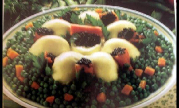 Salada de Ovos com Ervilhas