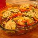 Lasanha de bifes e legumes