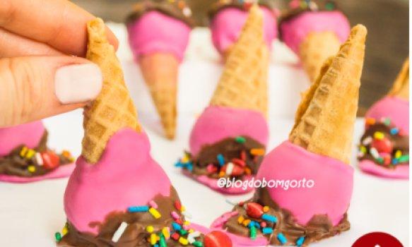 Cake Pop Sorvete Derretido