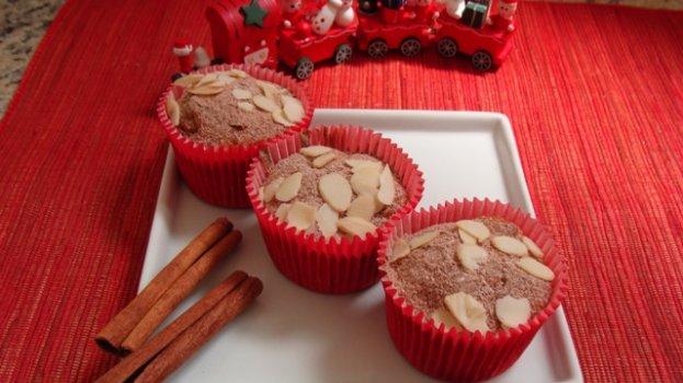 Cupcake Integral com Frutas Secas e Maçã