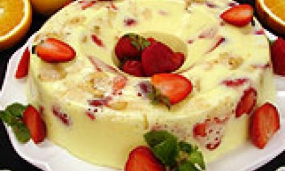 Pudin de frutas de creme 4 leites