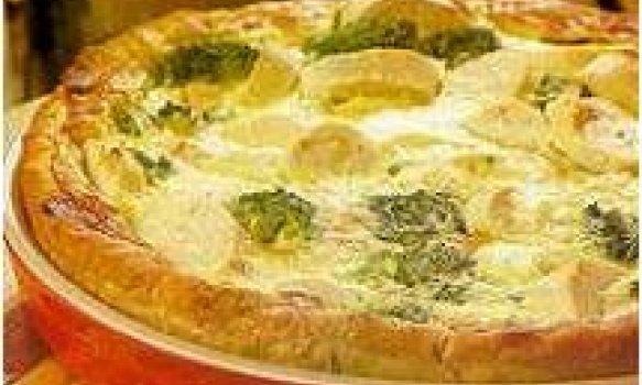 Torta de palmito com brócoli
