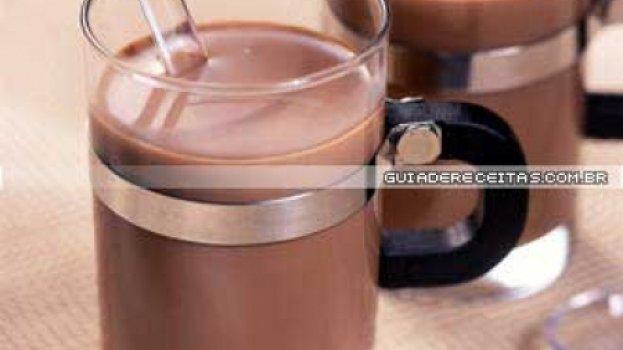 Chocolate Quente com Licor