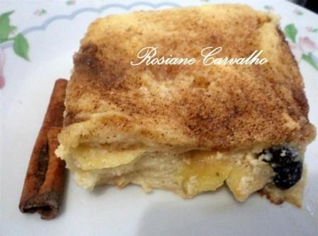Torta de Maçã com Pão de Forma