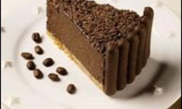 Torta mousse de cafe e chocolate