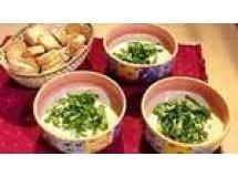 Sopa de maçãs com roquefort