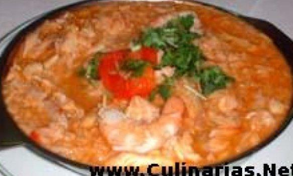 Arroz de bacalhau e camarão