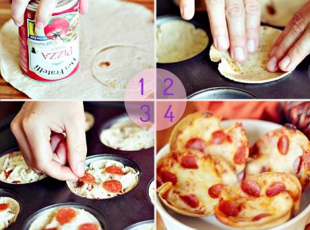 Mini tortillas de pizza