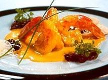 Camarão ao Curry com Chutney de Frutas