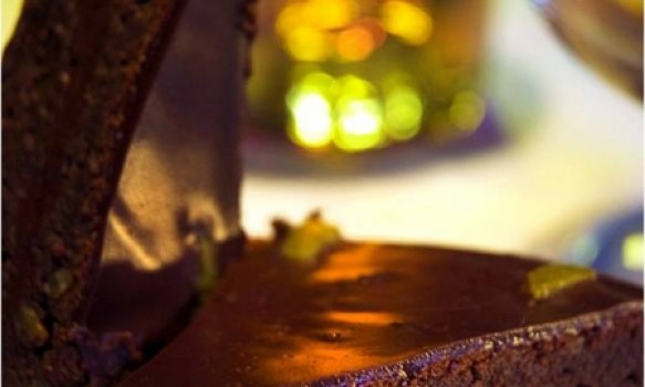 Fondant de Chocolate e Tangerina
