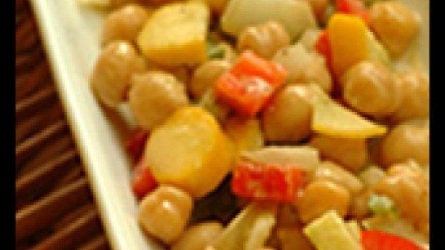 Salada Quente de Grão-de-Bico