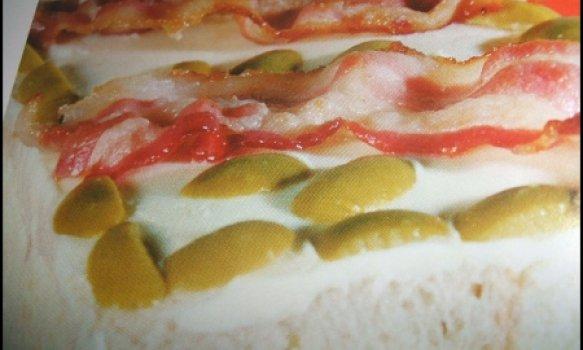 Torta de catupiri com bacon
