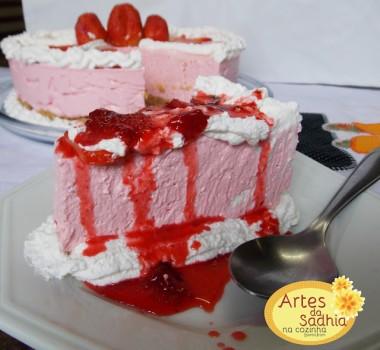 Torta de Morango com Framboesa