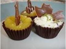 Casquinhas de Chocolate com Mousse de Maracujá