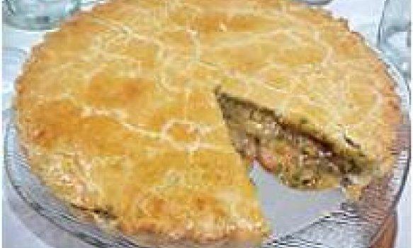 torta de camarão