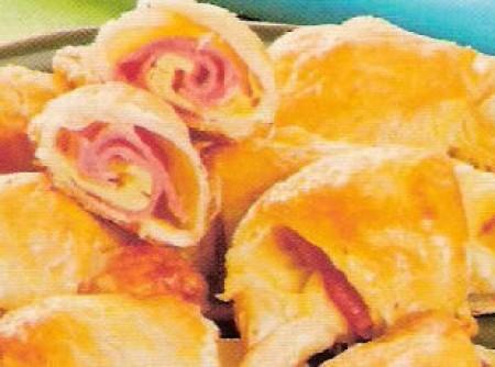 Croissant de presunto e queijo