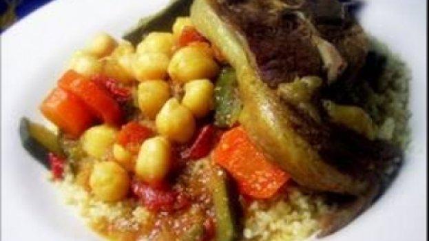 Couscous de Borrego e Legumes
