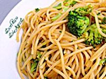 Espaguete com Brócolis e Couve flor