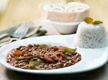 Lentilha com Carne Seca   Bárbara Guimarães