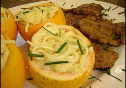 Scalopini com linguini al limone