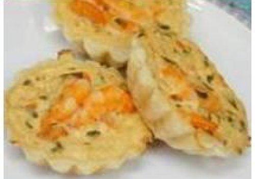 Tortinha de camarão com creme de leite