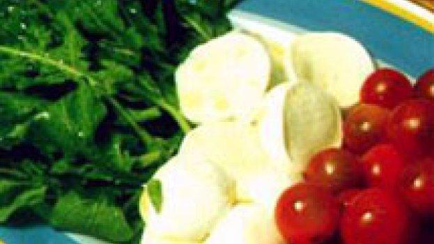 Salada de Rúcula, Mussarela de Búfala e Tomate Cereja