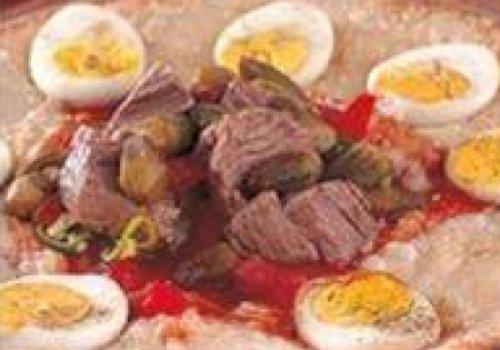 Bazin com carne e quiabo