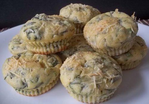 Muffins de espinafre