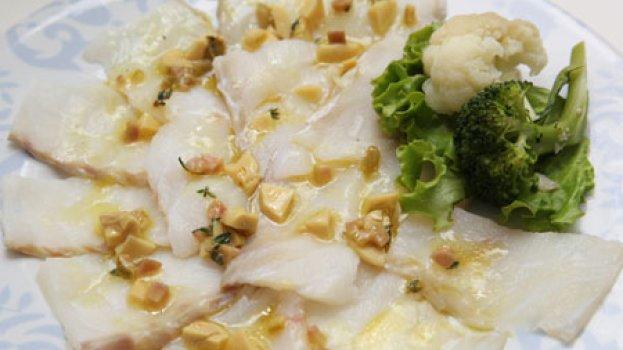 Carpaccio de Bacalhau e Vegetais